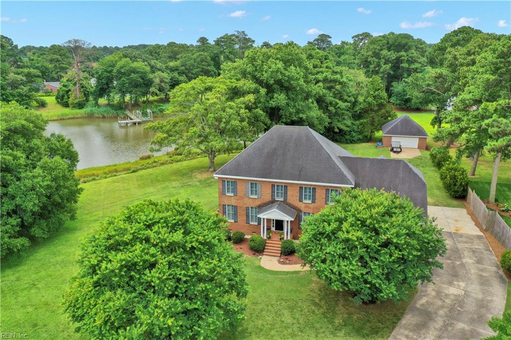 Stately, custom built waterfront home