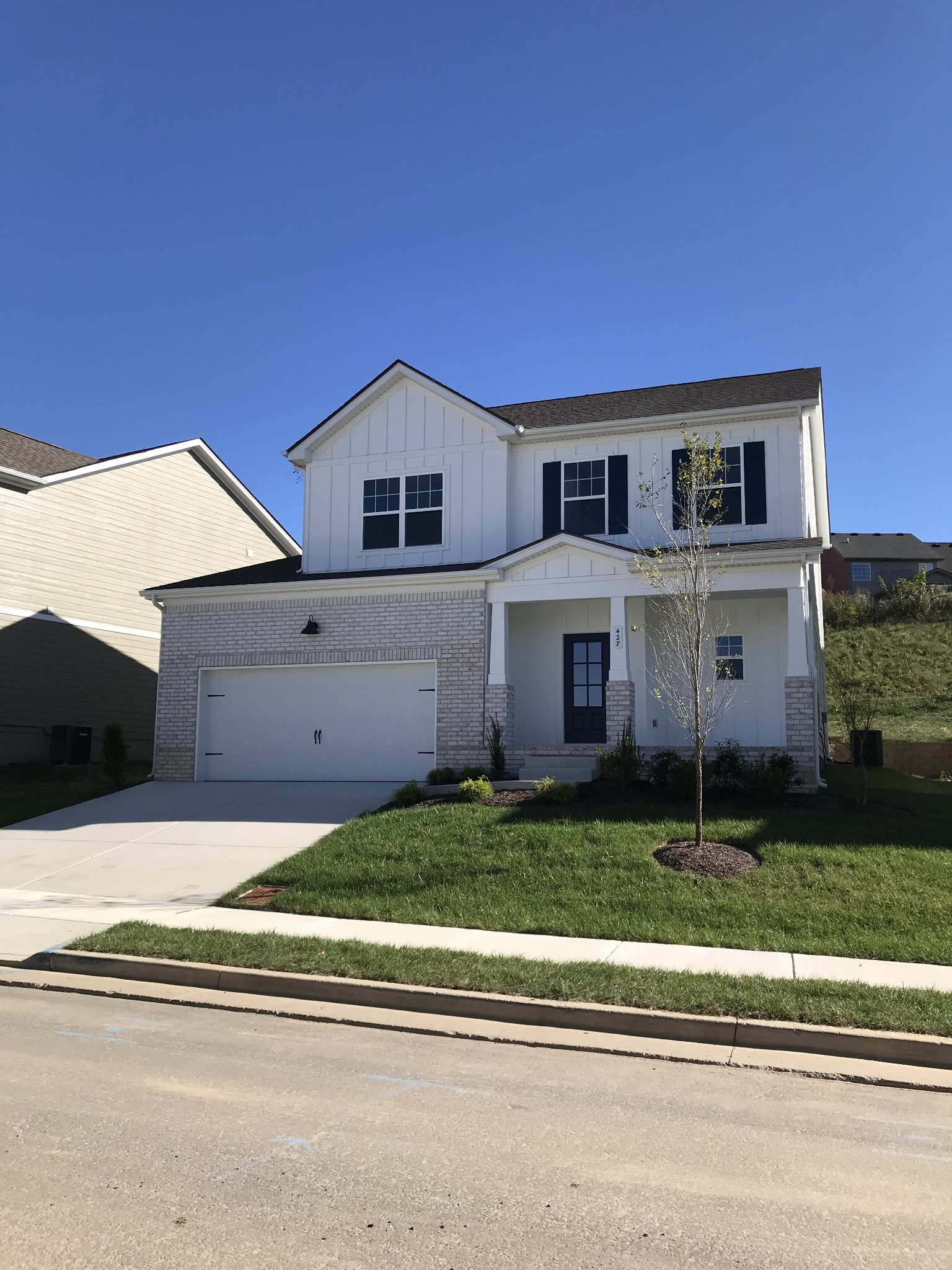 Ready in April! 3 bdrm-2.5 bath 1977SF. All bdrms up with bonus and laundry and 2 full baths up.gas fireplace! Open floor plan with huge great rm-10x10 patio in back and cov front porch. 2 car garage-fireplace(gas insert) Only a few homes left before we are sold out!