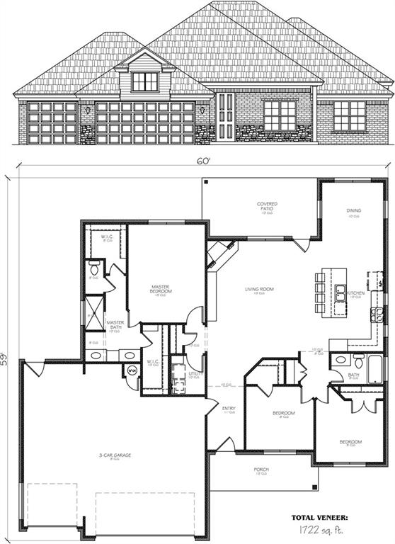 This new build plan is almost identical to the Model home at 2106 Turtle Creek Way.  The Model will be available to show until December 2021. This villa plan lives large at 1722sf with 3 bedrooms and 2 baths. The open floor plan design with the large kitchen island is perfect for the consumer wanting a smaller footprint and less impact on the future. The 3 car garage has insulated walls and an insulated overhead door. Additional features include interior insulated party walls for reduced sound, Low E windows, net and blow wall insulation with R38 blown attics, over/under cabinet lighting and almost 99% LED lighting throughout this home.  You will love working with the builder provided designer to guide you through your selections to make this home your very own!