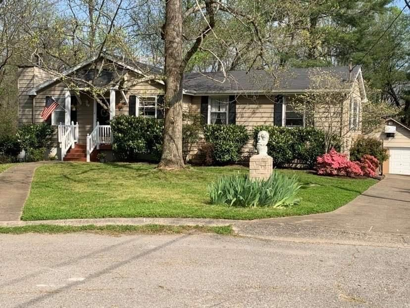 Cute & cozy cottage on 1.4 acres in desirable Hillhurst Estates. Excellent location & schools!  Beautiful private, wooded,  cul de sac lot with newer privacy fence. This home has tons of space & potential to be a least 5 or more bedrooms. Perfect for in laws, teens & generational families. This could be a showplace! It's ready for some updating to make it your own! * 360 ft. not counted in sq ft.* New playset & 2 story log cabin playhouse remain.* New high efficiency HVAC in 2018.