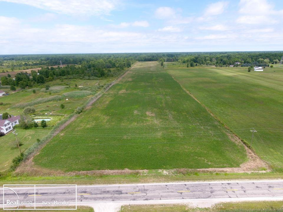 Excellent building site, paved road in the East China School District.  Bring those house plans!  Beautiful 17.55 acre site, ready to build your dream house.  Perfect for a variety of animals, farming, hops, or just relaxing on your own piece of heaven!   Gas is At the Road.  See Township for building Requirements/Restrictions.  No perk tests have been completed.  Will need well & septic.  Culvert is In. Subject to Crop Rights, Soybeans currently planted.  Any 2021 crop rent income is to go to seller.  Please do not walk property.     I.D.R.B.N.G.