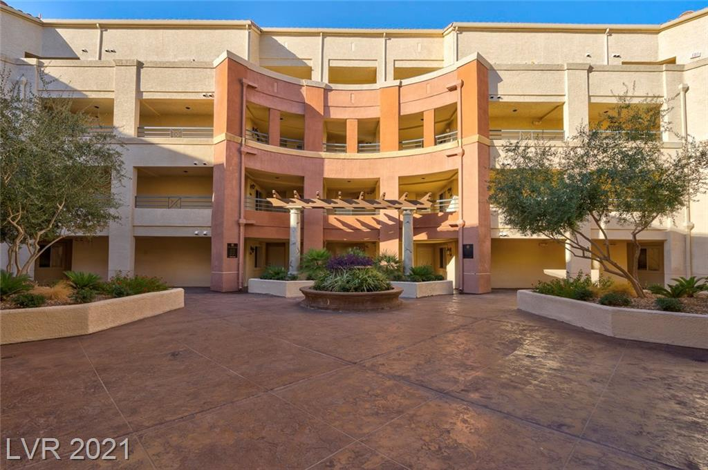 Located inside a 16-acre Resort Style community! This 2 bedroom 2-bathroom Condo is just minutes from the Las Vegas Strip! Tile flooring throughout main areas and carpet in both bedrooms. Kitchen comes with stainless-steel appliances, granite counter tops and custom cabinets. Bedrooms with spacious walk-in closets. Features lush, landscaped grounds, resort style pool, pool cabanas, spa, sauna, gym, racquet ball court, 2 tennis courts, and BBQ areas.  24 Hr. access to most amenities. Enjoy beautiful pool views from your private covered patio. Washer and Dryer included!