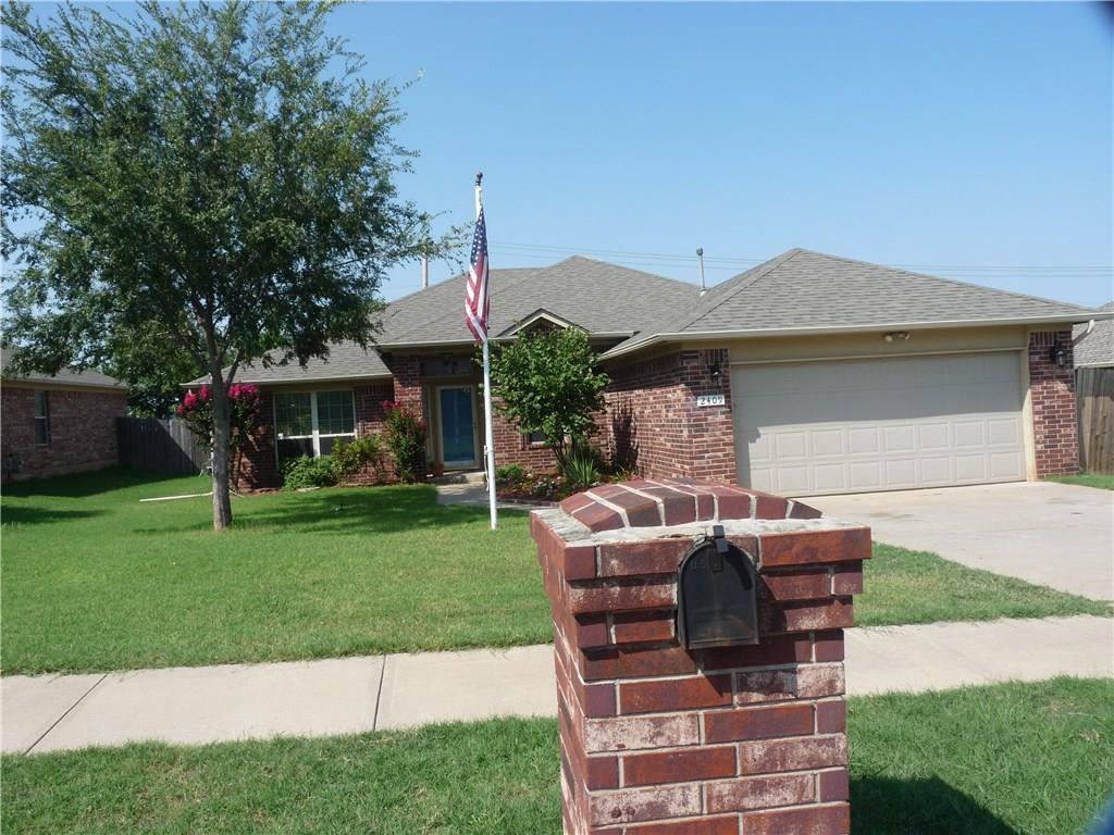 Very quiet street in this sought after neighborhood with walking trails, community lake, and park.  Close to the University of Oklahoma and shopping.  Wood laminate floors in large living room with fireplace.  Kitchen has breakfast bar and is open to the living area.  Home has 3 bed PLUS a study PLUS formal dining area.  Utility room has great storage!  Large storage building with wood floor for all your goodies!  Exterior has been painted recently,  Master has jacuzzi tub and shower AND a large walk-in closet!