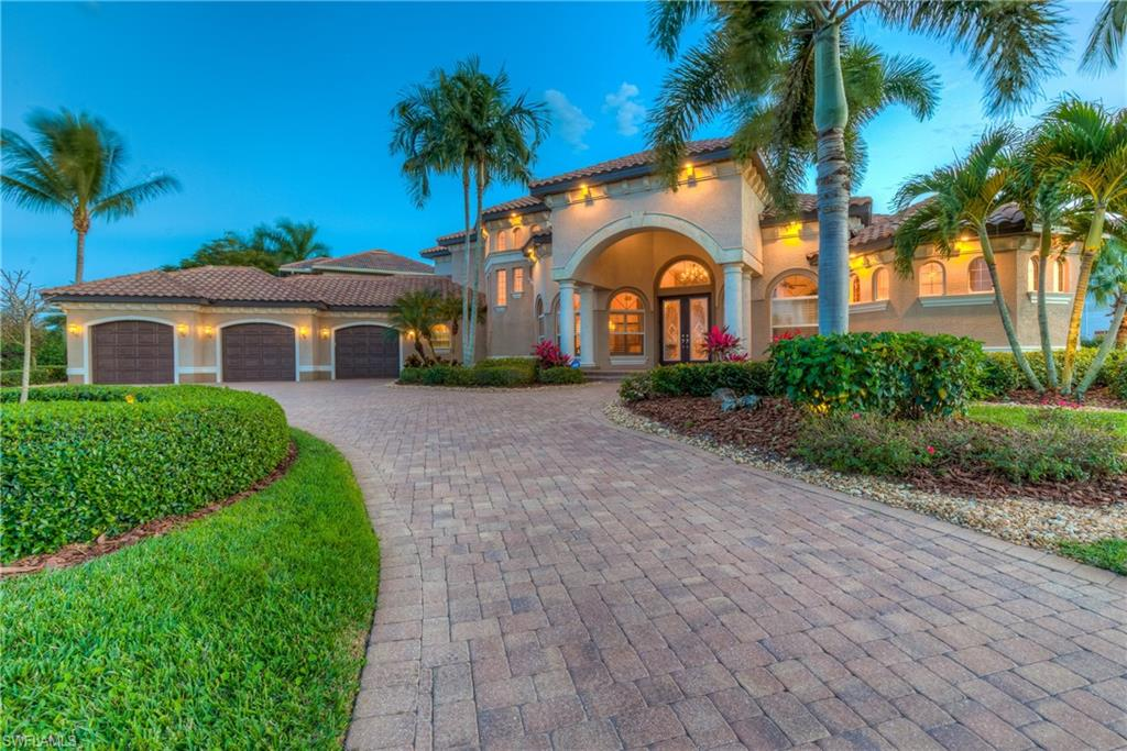 "This is living the Florida lifestyle to the fullest! This sought-after tropical oasis, with quick direct access to the Gulf of Mexico, is in the ""gate 3"" section of Cape Harbour allowing for only high end estate homes in this prestige boating community! Tranquil water views, gorgeous sunsets glistening off the canal from the incredible main floor lanai consisting of over 2600sf, with lush tropical landscape, outdoor kitchen, custom zero edge pool/water features, boat dock and 20K lb boat lift right in your own backyard! Nothing left to spare in this custom, waterfront masterpiece positioned on 1/2 acre constructed by Aubuchon Homes built for the discriminative buyer in mind with superb, architecture, craftsmanship and materials. Great room floor plan comprises, under air, over 5K sf, 5 en-suite bedrooms, 7 baths, den, home office, formal/casual dining areas, chef's kitchen, walk-in wine cellar, Captain's Room lounge with custom wrap around bar. High ceilings, variety of coffer ceilings, impact windows, custom built-ins, built-in appliances, granite counter-tops, hardwood floors, outdoor landscape lighting, addt'l washer/dryer on 2nd level, just a few of many desirable upgrades!"