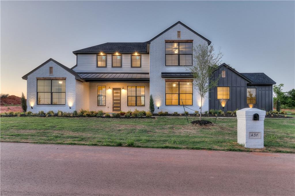 Welcome to Timberland Creek! This gated development is for nature lovers. Neighborhood amenities include a vegetable garden and a pavilion for gathering. Located in Edmond school district, this could be your very own modern farmhouse! The open floor plan features modern colors, upscale lighting, high-end flooring and tons of natural light. Kitchen is open to the living with a large fireplace focal point. Kitchen has an oversized commercial stove and double ovens, large island, quartz countertops, and large walk-in pantry. Master suite leads into utility room through oversized walk-in closet. Large bonus room upstairs and an extra large covered back patio men you have plenty of places to relax or entertain guests. Other features include energy efficient HVAC, Low E windows, solar decking, tankless water heater, mudbench and more. Ask about the builders Quality Assurance Program!