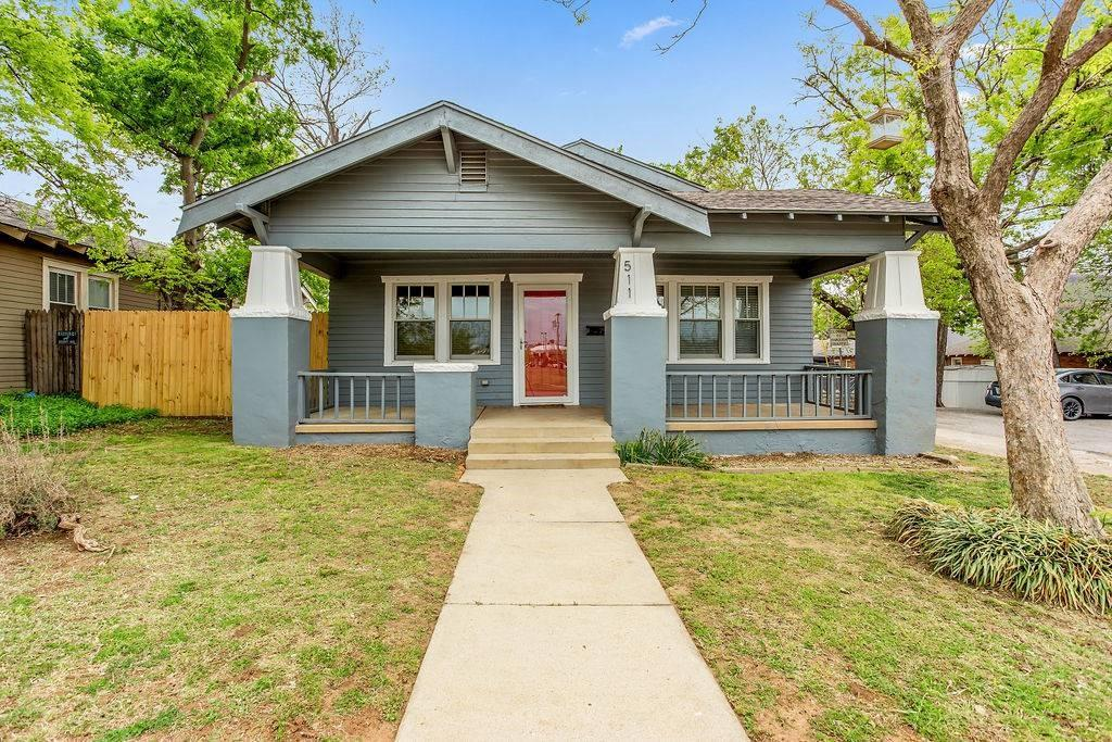 Set on a prime lot within walking distance to the Paseo Arts District and Uptown 23rd District, this 1920's Craftsman style bungalow has been lovingly refurbished to preserve it's historic character and provide adaptability for the future. Vintage hardwood floors, wood paneling and moldings, built-ins, an original pedestal sink from the Mayo Hotel in Tulsa, period lighting, and original windows and doors enhance the interiors. Home features a formal living room with brick fireplace, dining room, three bedrooms, bathroom, remodeled kitchen with pantry, and laundry room. The home has great curb appeal, features a front porch and spacious fully fenced yard. Stop by for a flashback in time; a dream for the future.