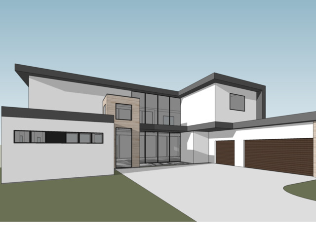 This house is not built yet.  Contemporary  intelligently designed to give the luxuriousness and extraordinary comfort with  4 bed-3 full & half baths, feature flexible open floor plan using building materials for greatest durability and beauty offer natural lighting, the glass walls unique for the contemporary leaving.