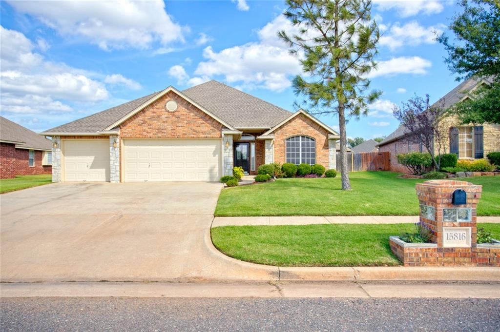 PRICE IMPROVEMENT!!! Please don't miss this well-kept home in beautiful Edmond! This home is absolutely move-in ready. The interior has been painted as well as new carpet installed in all of the bedrooms. It is squeaky clean with a lot of updates! Granite countertops, beautiful wood floors, surround sound and a storm shelter are just a few of the amazing features. The second living has plenty of space for a pool table or the perfect game room. You will enjoy the covered patio and nice backyard. The home also features great landscaping and complete guttering around the home. The subdivision offers a swimming pool and park just a few steps away. Convenient shopping is nearby and of course, Edmond schools! Make your appointment priority.