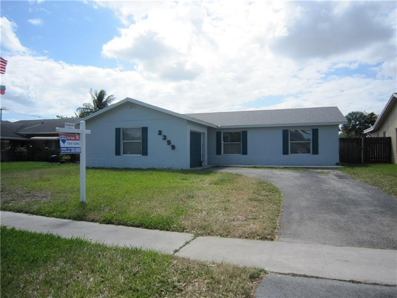 Great West Broward location, close to all points of interest - schools, parks, shopping and easy access to highways for commute. New roof, A/C replaced, vaulted ceilings and interior just painted. Easy to show and NO HOA.