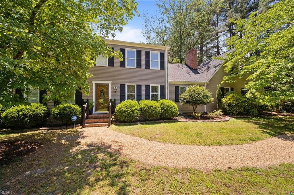 Private retreat on 1.3 acres in Tabb Schools. Near all amenities, shopping, interstate, & Military Bases. Short distance to Elementary & Middle schools &  Tabb High school. Move in ready w/several upgrades & special features: updated kitchen & remodeled bathrooms, newer dual HVAC system.  New roof installed in 2016 w/30 year architectural shingles.  Large room over the garage and shiny wood floors throughout the main floor.  Several large closets throughout the house and extra storage space in the walk in Attic. Whole house interior & exterior professionally painted 2017. Expansive park like backyard and front yard with mature landscaping. Enjoy fruit trees, blueberries bushes, muscadine grapes, & grow your own vegetables on raised beds. Brick fireplace, ceiling fans in all bedrooms. Enjoy park peace & tranquility from your heated and cooled 4 season room. This is a wonderful home with one of the best lots in the neighborhood. Public boat ramp and fish 200' away.
