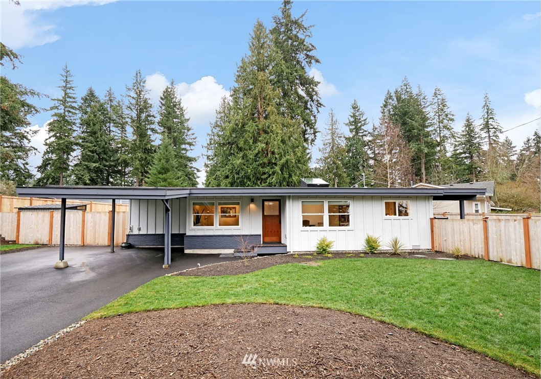 Thoughtfully modernized, light-filled Edmonds rambler on a corner lot! Upon entering the home, you will love the beautiful open concept living, dining, and kitchen spaces. Down the hall, a spacious owner's suite awaits you featuring a walk-in closet with custom built-ins and a brand new construction bathroom. The bonus room is perfect for an office or entertainment—you choose! Outside, you will find a fully fenced, freshly landscaped backyard complete with a new sprinkler system and a huge heated and covered deck—great for entertaining all year round. Updates include all new electrical, new plumbing, new roof, and much more! One-car carport with plenty of off-street parking. Conveniently located to shopping, parks, and major highways!