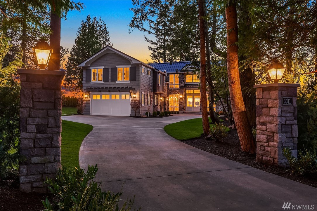 A truly rare find! This estate home is perched on a private lane at one of Medina's most desirable addresses with 180-degree views of Lake Washington, the Olympic Mtns and the Seattle skyline. Just completed by Overbrook Construction, Inc. with meticulous attention to detail and a long list of luxury finishes and extras. The inspired design features spacious, flexible living spaces built to complement your lifestyle. Don't miss the attached, yet completely private Mother-In-Law suite.