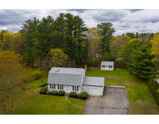 OPEN HOUSE SAT MAY 15th from 12-2pm No Appointment Needed. This 4 bedroom cape cod charmer features plenty of living space with 2000 sq ft. This immaculate home is very well maintained inside and out, light, bright and turn key. Other features include: gas heat, freshly painted interior, beautiful hardwoods, updated baths, built ins, large eat in kitchen with stainless appliances and breakfast bar, generous size bedrooms, tons of closet space, pantry, huge lower level family room, newer roof, windows and doors, one car garage plus large detached storage shed suitable for a small car.  This home is set on a lush 1.08 acre retreat lot in HOBOMOCK school district just one mile from Birch Street Park. Title 5 Approved.  Offers if any are due by Tuesday at 9am.
