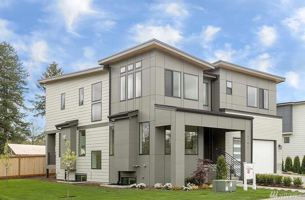 Welcome to The Grove, a unique collection of eight modern contemporary new construction homes. Perched in the Education Hill neighborhood of Redmond, living at the Grove offers easy access to all the area has to offer including parks, trails, shopping, Microsoft and the Woodinville wineries are minutes away. Home features 5 bed, 4 bath plus lower level basement living area with rec room/wet bar. Modern finishes and designer touches throughout including prep kitchen, main level office/6th bedroom