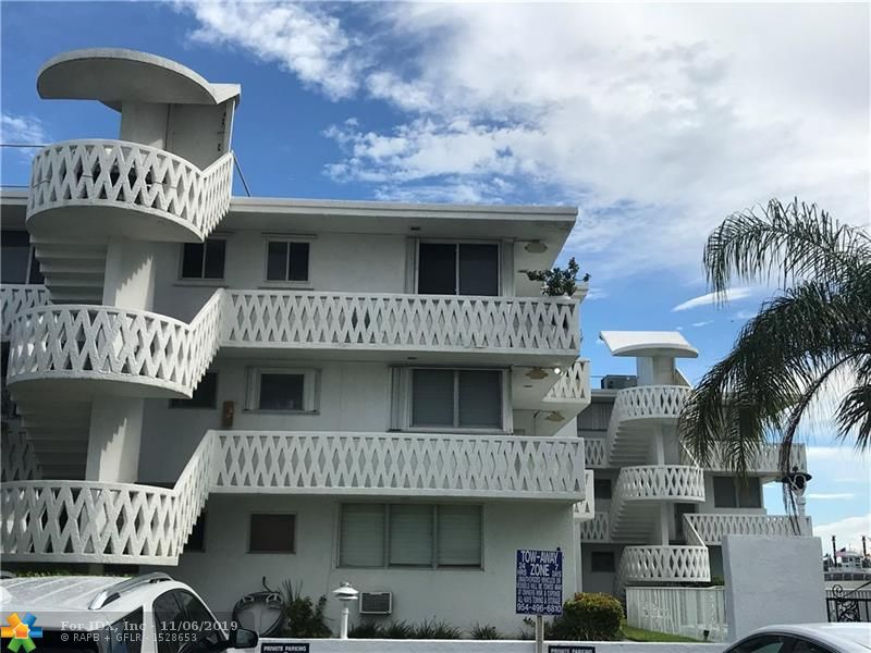 INCREDIBLE WATERFRONT,GROUND FLOOR UNIT WITH SPECTACULAR VIEWS OF THE HARBOR AND ONLY 200 YARDS FROM THE WIDEST PART OF THE FAMOUS FT.LAUDERDALE BEACH.SUN FILLED WINDOWS OFFER LIGHT AND BRIGHT INTERIORS THROUGHOUT THE OPEN LIVING SPACES OF THIS ONE BEDROOM ONE BATHROOM UNIT.FRESHLY PAINTED WITH NEW CENTRAL A/C AND WATER HEATER. WALK TO EVERYTHING : BEACH,RESTAURANTS,WATER TAXI ,LAS OLAS . DEEDED PARKING WITH LOW MAINTENANCE, PART OF A 10 UNIT CO-OP WITH POOL ,COMMON AREAS AND LAUNDRY. CALL FOR YOUR PRIVATE SHOWING TODAY. PLEASE NOTE THE BUILDING IS ALSO FOR SALE WHICH COULD RESULT IN A WINDFALL FOR ANY BUYER OF THIS UNIT.