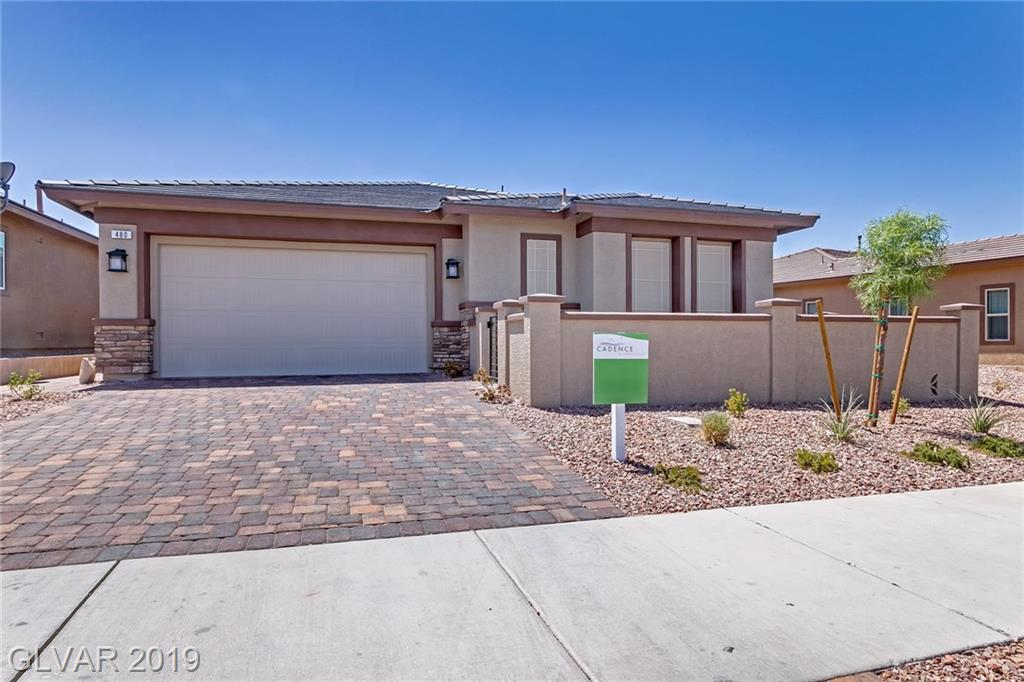 Spectacular SINGLE STORY 3BDRs & 2.5BTHs plus DEN HOME in Master planed Cadence at Henderson! Great curb appeal w/paved driveway, courtyard & porch inviting to bright & open Great Rm combining Family & Dining Rms w/10ft ceiling. Gallery Kitchen is stylishly designed w/ pantry, granite cnts, SS appl & huge island w/breakfast bar. Large master BDR w/walk-in closet & MBTH w/dual sinks & shower only. Finished yard w/artificial grass & covered patio.