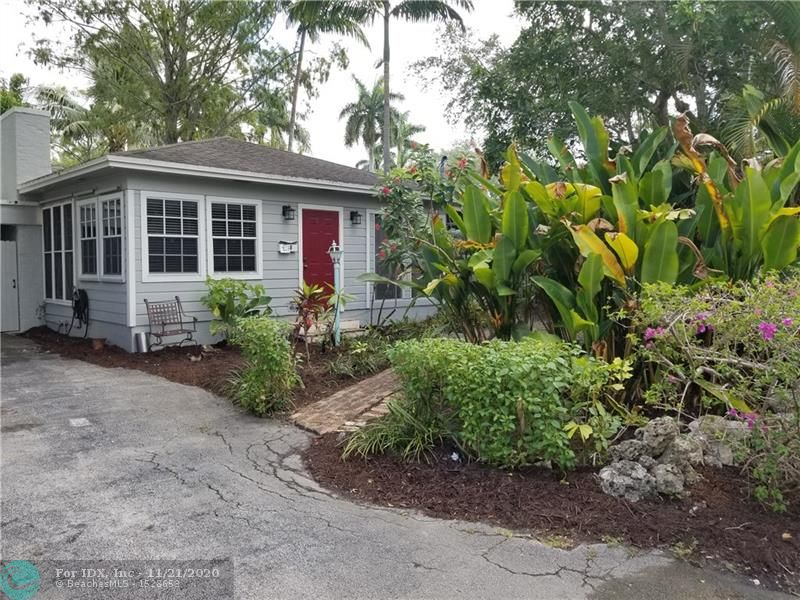 Feels like Key West without the 4 hr drive. Cute as can be main house with character intact. Dade County pine construction, original oak floors, fireplace, front FL room/office & screened porch, big rear covered porch overlooks tropical setting that will take you back to a quieter time. Guest house with Murphy bed, kitchen & bath so you can share paradise with guests. Walk a few doors down to Lewis Landing Park and watch the boats float by or drop your kayak in. This home sits on a lot that extends from 7th St to Coconut Dr. with parking on both streets. Across the street from New River, minutes to Performing Arts Center, Riverwalk, restaurants, Las Olas Publix, tennis, airport & beach. I-95 is 3 minutes away. If you have been seeking Utopia, here it is!