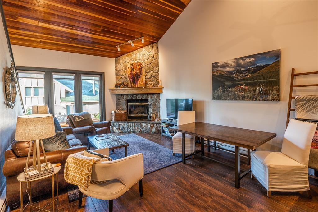 Truly a turn key opportunity at the Big Sky Mountain Village.  This recently remodeled 3 bedroom/3 bathroom Big Horn offers easy ski access, the ability to walk to the Village, and strong rental history.  This is one of only a few Big Horns with a hot tub.  The unit is being sold furnished.