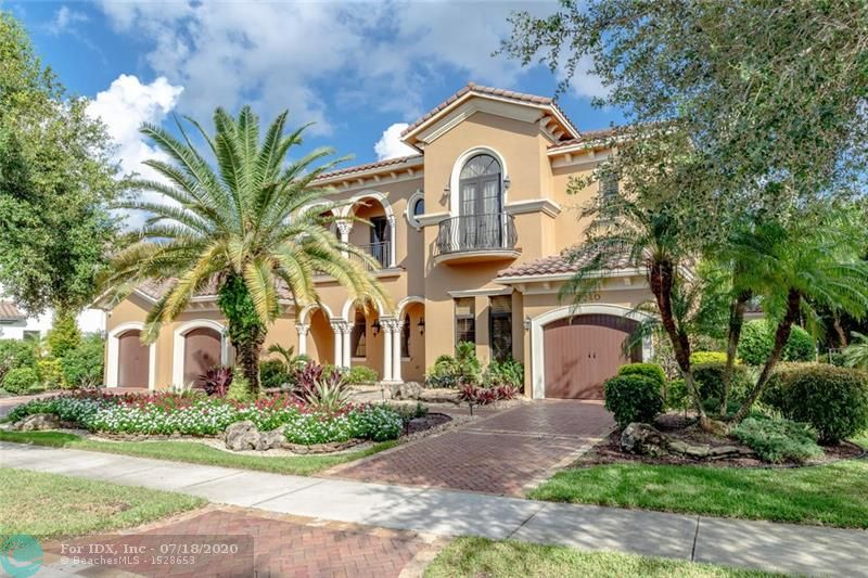 Living is easy in this impressive, generously spacious mini-mansion w rolling fairways & water views. Masterful design & luxury are uniquely embodied in this 6 bedroom, 5 full & 2 half bath pool dream home in a high- end community that's home to Parkland Golf & Country Club. Spanning over 6300 total SF this magnificent residence graced by soaring ceilings & wall to wall impact windows is a haven for gazing at the resort-style pool & golf course views from multiple vantage points. Upstairs, master bedroom has its own private bath plus a huge walk-in closet & sitting room. Top of the line chef's kitchen is clad w premium finishes & fixtures incl custom cabinets, under cabinet lighting, granite counters, & upgraded appliances. Every detail was carefully selected & quality crafted.