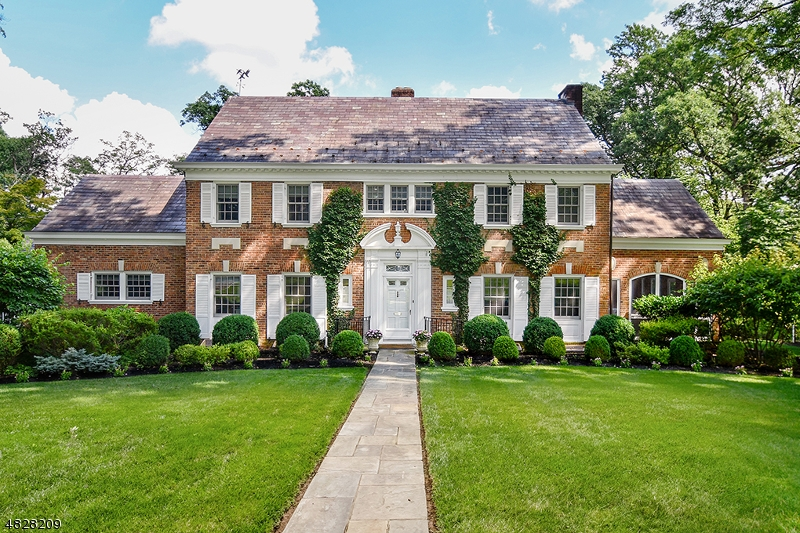 One of a Kind! Classic & sleek Brick colonial with incredible architectural details & renovations.  Private .6 acre park like property with amazing terrace & screened porch.  Location & curb appeal! Family Room addition opens to white custom Eat in Kitchen.  Fabulous outdoor entertaining with multiple terrace and patio access, beautiful screened porch and park like grounds. 2019 New Central Air,  En suite baths, 2018 newly renovated master bath, 2018 renovated butler's pantry, 3 fireplaces, 4 car garage and secluded home office.  Slate roof, copper gutters, exquisite professional landscaping and meticulously maintained. Location!  Lucky buyer!  Great value in an awesome neighborhood.