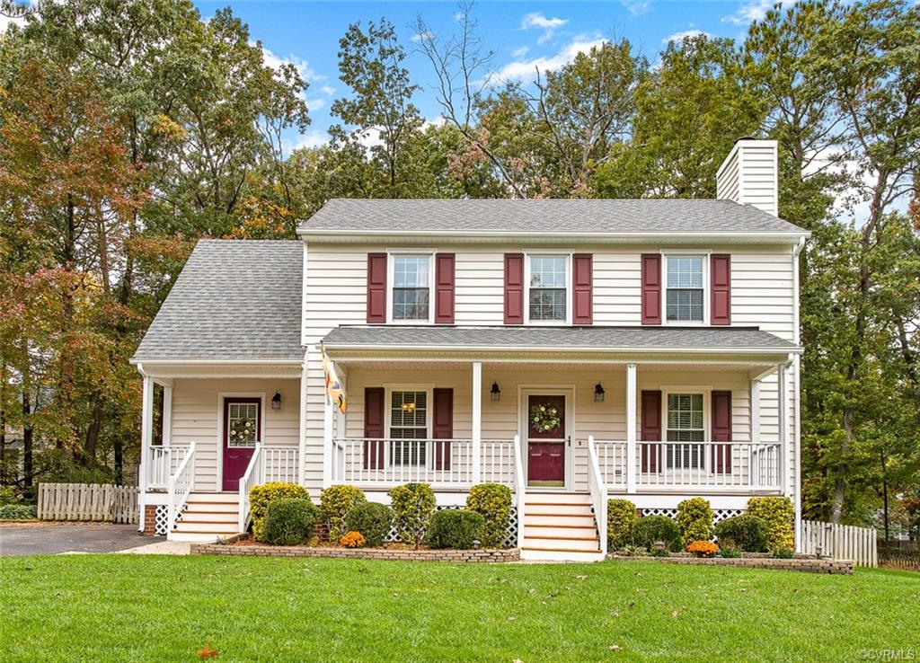 Welcome to 5141 Chelsea Brook Lane.  Perfectly lovely, charming and well-maintained home.  This gorgeous home has many features: New Roof 2018, Vinyl Siding 2019, Water Heater 2018, New Carpet 2019, Ceiling Fans, Renovated Baths with New Vanities, Updated Light Fixtures, Vaulted Ceiling with Sky Lights, Stunning Harwood Floors, Tile Backsplash, Tile Floors in Baths and Kitchen, Stainless Steel Appliances, Large Walk in Closet, Abundance of storage with pull down attic, Wood Burning Fireplace, Plantation Blinds, Freshly Painted, Chair Rail, Beautiful Front porch, Screens Over Gutters, Manicured and Picturesque Landscaping with an Overside Deck, Fenced Yard & Detached Shed and so much more.  This fabulous home is adorable. Must See!