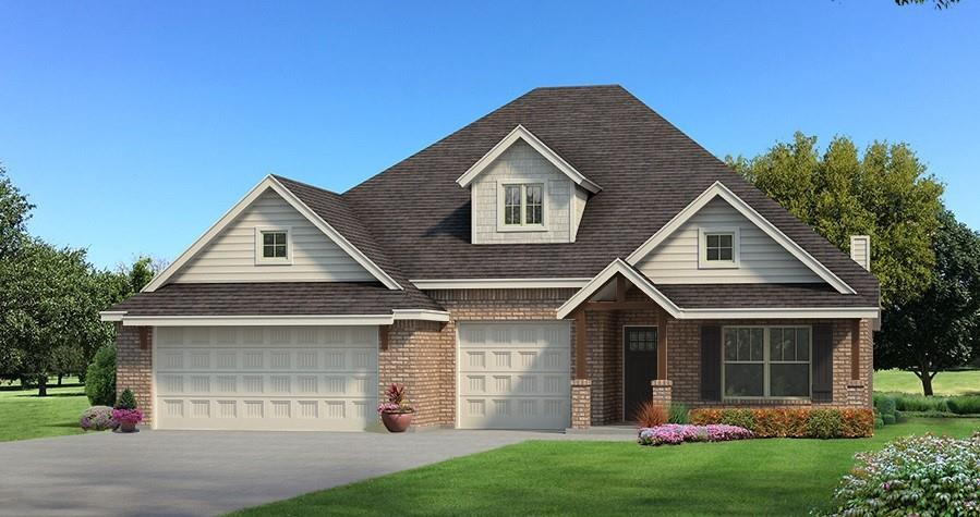 Nestled in our newest Edmond community, Stonebriar, is this Shiloh Bonus Room. Home has includes 2,805 Sq Ft of total living space, which includes 2,450 Sq Ft of indoor living space and 355 Sq Ft of outdoor living space. There is also a 610 Sq Ft, three car garage. This home features 4 bedrooms, 3 bathrooms and a bonus room! The spacious living room stack stone gas fireplace  and is secluded from 2 bedrooms with barndoor. Master suite offers a boxed ceiling with ambient lighting, 2 separate master closets,  his and hers vanities, corner jetta tub, and huge walk in shower! The kitchen is an absolute dream, it boasts with cabinets to the ceiling, stunning backsplash, built in stainless steel appliances, and 3cm quartz counter tops! Back patio is great for entertaining, its spacious and has an outdoor fireplace, what more do you need? Other amenities include a Smart Home Technology,  Rinnai Tankless water heater, whole home air purification, and R-44 Insulation.