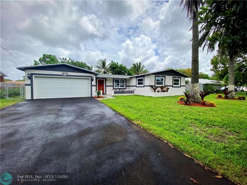 Newly renovated single family home in Plantation, FL. This beautiful home features a new roof, impact windows and garage door, and new A/C. Inside, a large open living area, new porcelain tile, and spacious bedrooms await you.  Quiet neighborhood and close to shopping and highways.