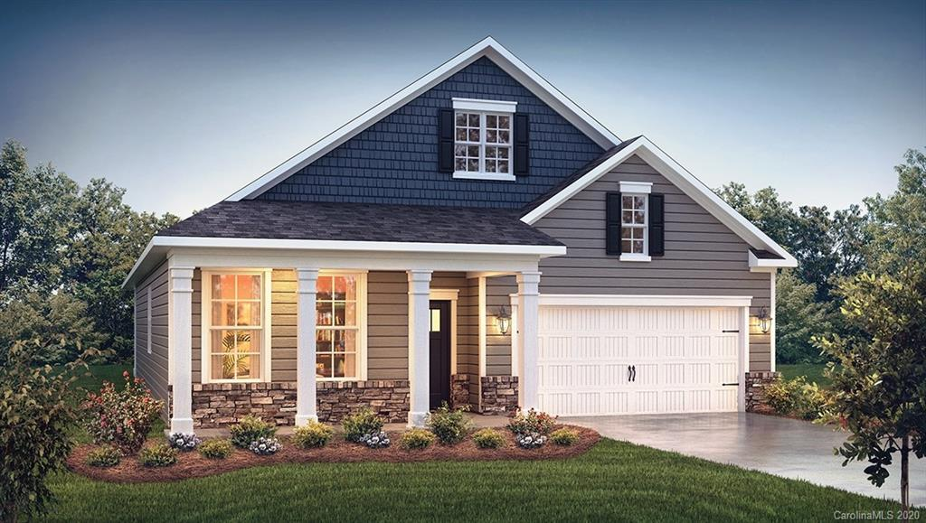 Exceptional Dover floor plan on Lot 24 features a desirable configuration w/ 3 bedrooms plus a bonus room w/ French Doors perfect for an office space. Upon entering the home the interior boasts of 9' ceilings w/ 2 piece crown molding throughout & wainscotting in the entrance hall. Mohawk Revwood flooring expands throughout the living room where you'll find a gas fireplace w/ vented logs & ceiling fan w/ oil rubbed bronze fixtures. The Revwood extends to the dining area marked by the white wainscotting, & into the kitchen area which includes an island w/ granite counters & oil rubbed bronze pendant lighting, Aristokraft cabinetry, & SS gas range, dishwasher, & microwave. Bedrooms are delivered w/ carpet while bathrooms are tiled. The back porch is screened w/ outdoor ceiling fan. Smart Home package includes Skybell camera doorbell & electronic Kwikset door lock. Clubhouse onsite includes a heated swimming pool, billiards, event room, library, business center & fitness room.