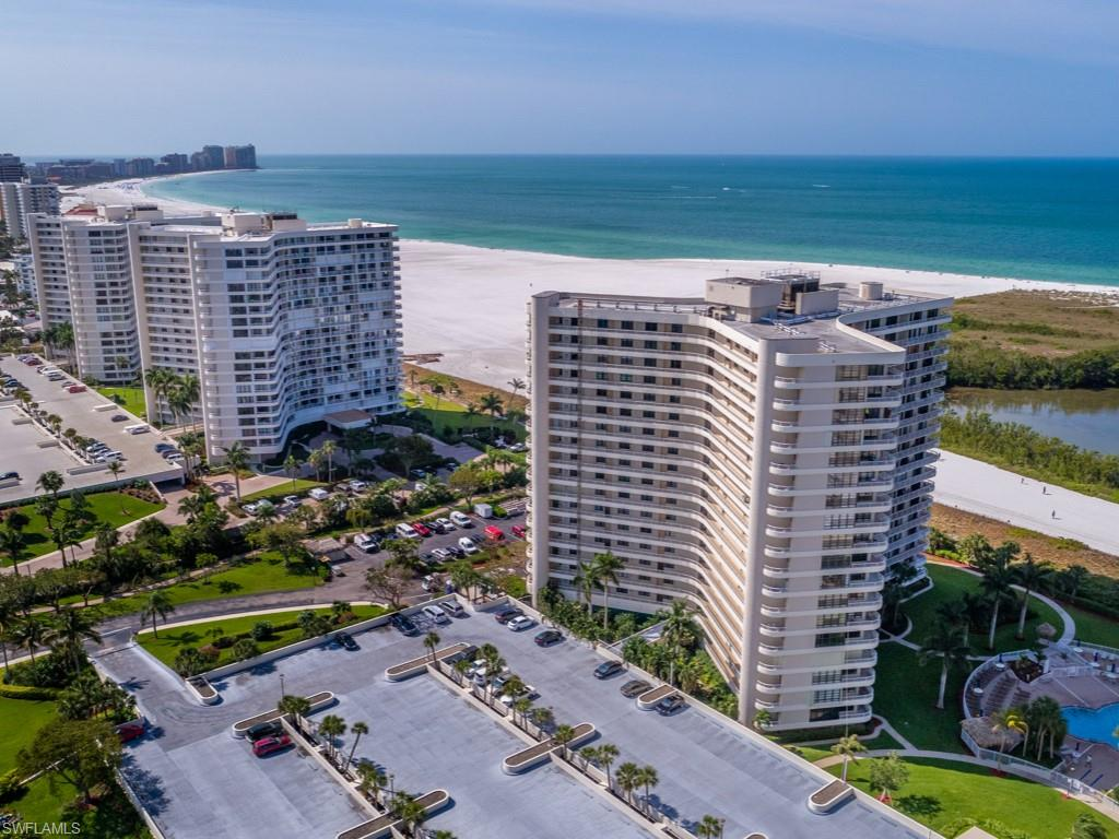 "Beautifully updated 2 bedroom and 2 bath condo with southern exposure and large wrap around balcony. Weekly rentals allowed! This ""wing"" unit offers an abundance of natural light and striking views of the Gulf from the kitchen and living room. Kitchen updates include granite, stainless appliances, white cabinetry, tile backsplash, tray ceiling and an unobstructed view. Smooth surface ceilings, crown molding, new interior doors and updated bathrooms too! South Seas offers report pool, beach access, tennis, pickle ball, bocce, shuffleboard, garage parking, extra storage and common boat docks to lease."