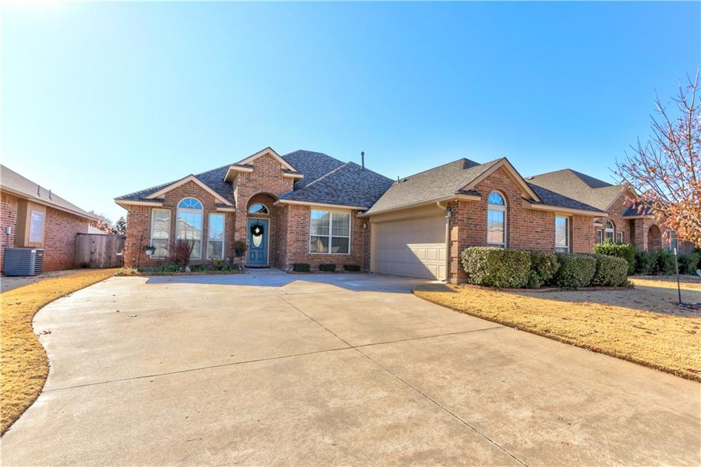 Open House this Sunday, 12/8, 2:00-4:00. Wonderful home tucked away in the heart of Edmond in a gated community that includes a park. Brand new roof with high impact resistant shingles which typically provides a nice discount on property insurance. Spacious living area is open to kitchen and includes a fireplace. Updated kitchen includes new granite, back splash, sink, faucet, appliances (dishwasher, stove & microwave), corner pantry and a bar area. Formal dining area off of the entry and could serve as a study or addn'l living space. Gorgeous hardwood floors in living, dining & hallway. Master suite includes double vanities, whirlpool tub, shower & large walk-in closet. Secondary beds are spacious and share a nice hall bath. Great curb appeal and expanded patio in the back yard. Refrigerator stays.