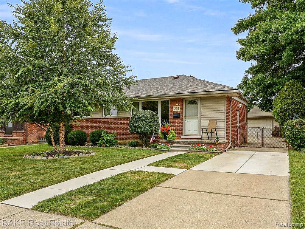 Fantastic curb appeal on this attractive brick ranch greets you as you walk up to 215 Deering Street! Loaded with updates, this home has all the features you need including 3 bedrooms, 2 full baths, finished lower level and roomy 2 ½ car garage. Kitchen is spacious enough for your kitchen table and many cabinets/pantry. Wood floors on display in the living room carry into all 3 bedrooms (under the carpet). Main floor full bath features tile floors and around the tub & shower. Finished basement offers built-in desk space, 2nd full bathroom, numerous storage options and laundry area. Large fenced yard for your dog(s) to enjoy! New roof shingles (2021), new furnace (2020), new dishwasher (2021), new concrete walkway and portion of driveway (2019), new washer/dryer (2018). Seller is completing the C of O to provide to the next owner and keys can be given at close!