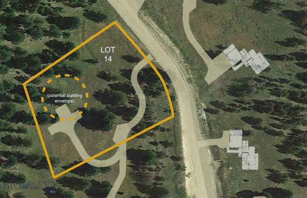 This homesite has mature trees that provide privacy and expansive views. The driveway is shared with Lot 13. Located in the first single family home neighborhood to be developed in Big Sky in over a decade. Residents will enjoy access to Terra Flow mountain biking trails and additional trails for hiking, 4-wheeling, snowmobiling and cross-country skiing right from your back door. Don't miss out on this rare opportunity the ultimate mountain lifestyle living.