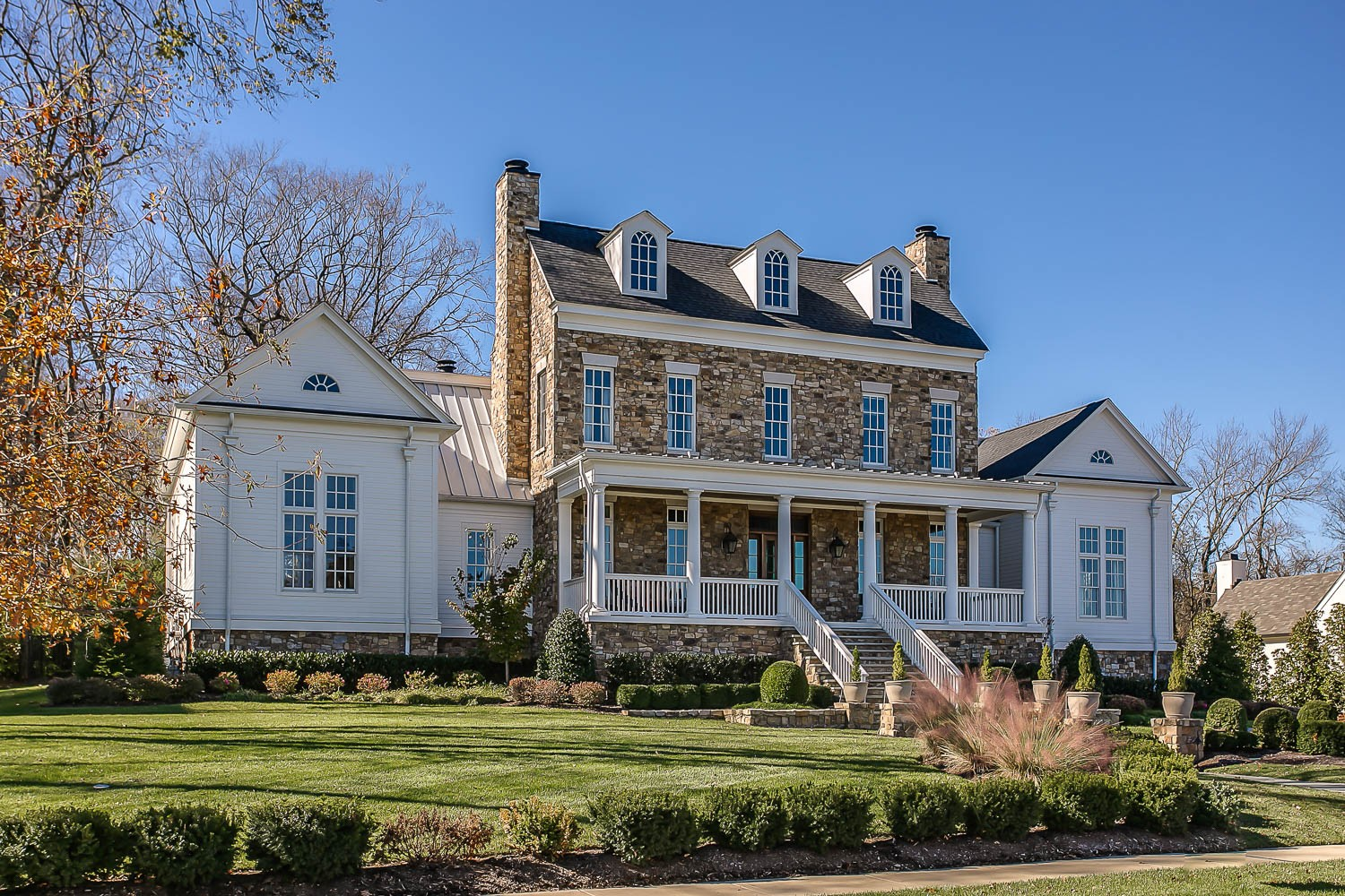 Capture the essence of TN with this former 2017 Parade of Homes Custom Beauty. Main level is complete with 2 suites, open-concept kitchen overlooking great room. Reclaimed barn wood throughout. Upstairs consists a true guest quarters w/ private kitchenette & bath, plus 3 additional ensuite bedrooms with a bonus room. Covered back porch offers backyard views of the historic Holt-Witherspoon property. Not a single detail has been overlooked!