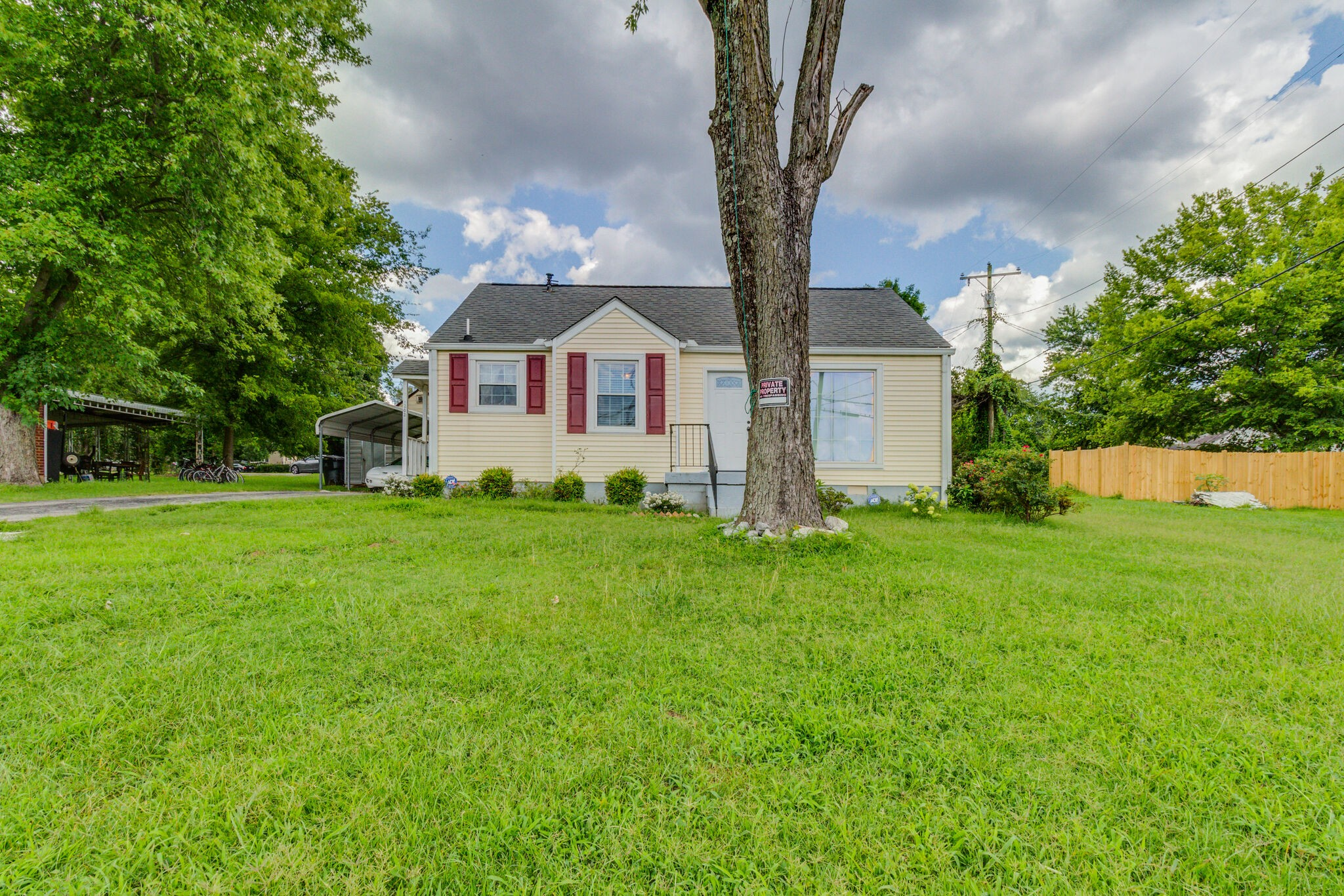 Cute cottage home located near the airport and interstate!  Easy access to downtown and Opry Mills!  HVAC, roof, windows and cabinets are approx. 6 years old!  Hardwood flooring throughout! Storage building, refrigerator and washer and dryer remain.  Seller to sell as-is! Home is very well kept!