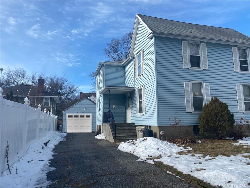 Great opportunity to turn this inviting colonial into a Fairfield gem! This 3 (formerly 4) bedroom with 2 full bathrooms is tucked into a quiet, one-way street in Fairfield's North Stratfield neighborhood. Location is great. 2 miles from the Merritt Parkway, 3.5 miles from I-95, NSS school district, close to grocery stores/shopping, Owen Fish Park is 2 blocks away. Bring your vision to 53 New Street — 1920's charm, a piece of history and lots of potential. Other:  Upgraded plumbing and electrical (200amps), new boiler (2018).