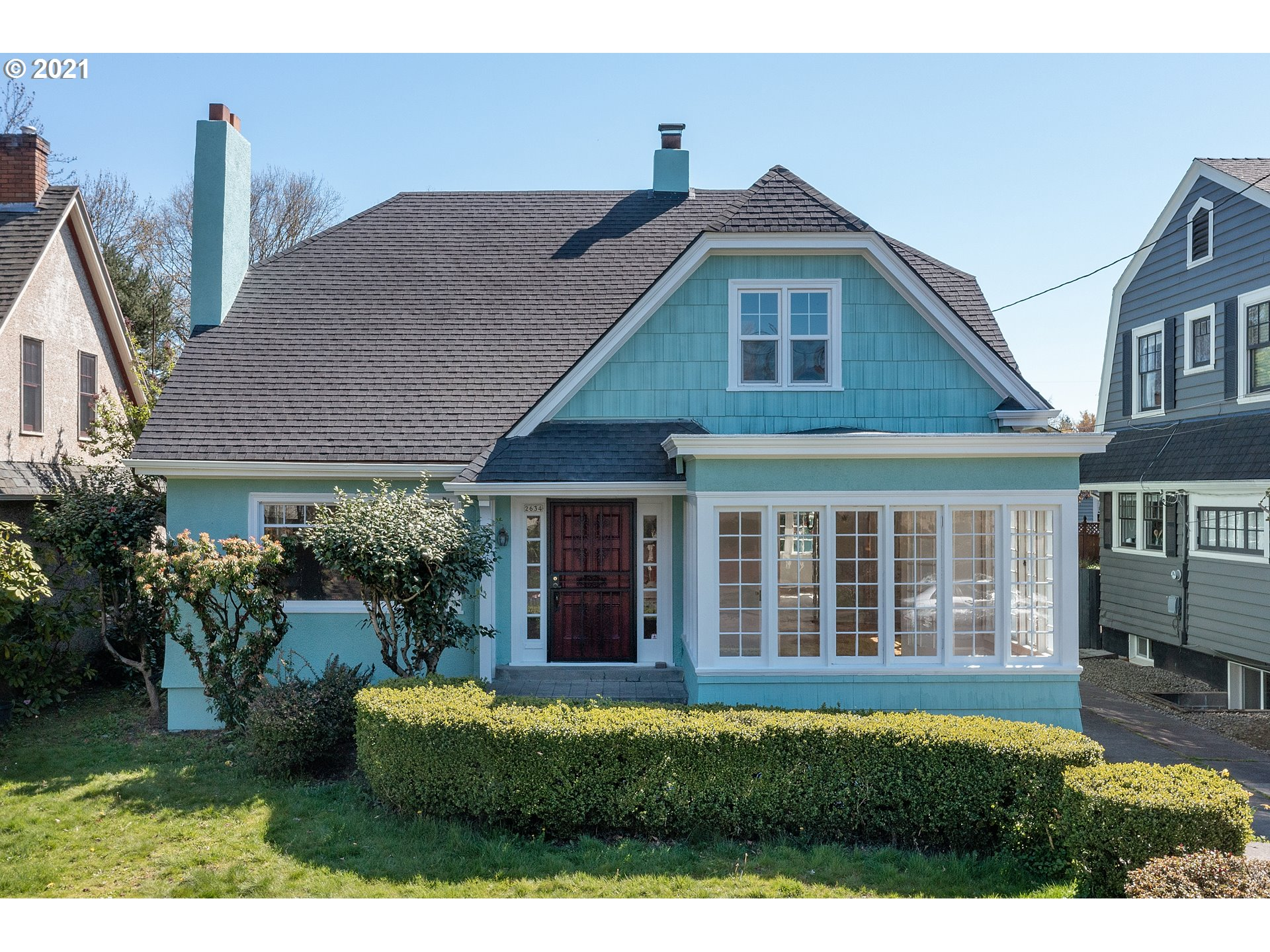 """Fantastic Irvington beauty. Family treasure, 1st time available since early 30's. Orig/period details remain incl moldings, panel doors, built-ins, mullion wood windows, 2"""" oak floors, lighting, tile work, cabinetry, fixtures, laundry chute, clawfoot, more. Lrg LR has tile surround at FP w/mantle & surround. Formal DR w/French doors to glass sunroom. Main floor BR. Sitting room/den off upper BR. 25K+ in new int/ext restoration/paint. Rep thinks roof/furnace apprx 10 or so yrs. THIS IS A BEAUTY!!"""