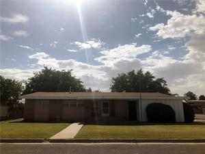 Pecos, Texas: Spacious one-story brick home available in the middle of oil-boom country, 5 minutes from I-20. Features include: formal living room; brick fireplace divides breakfast area and den; vaulted ceilings, LARGE master bedroom with built-in bookshelves; 2 full baths with Roman-style tubs; secondary bedrooms with large closets. Hidden interior storage in Den w/2 storage closets and wet bar. Carport with storage area and 2nd entry to home. Backyard with separate storage building. Roof, refrigerated air system and water heater replaced Nov. 2016. Ready for a new owner(s) to make it their own!