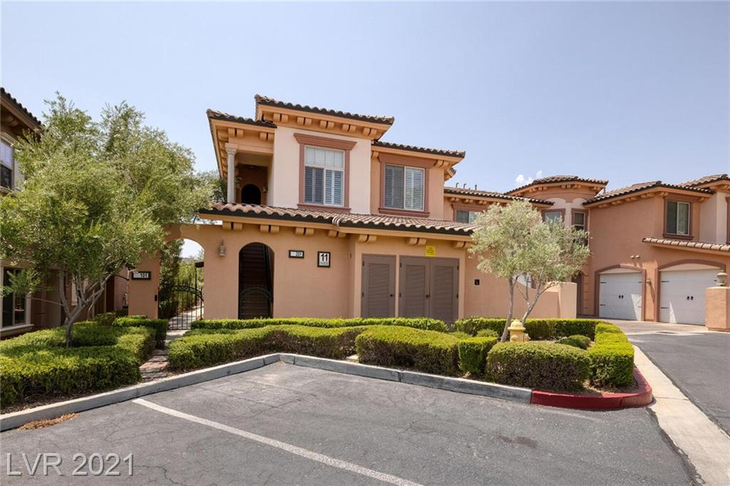 Beautiful furnished condo with amazing upgraded finishes including a garage in Lake Las Vegas with an amazing community and amenities! 3 Bedrooms and 3 Baths!!! Spectacular views of lake, golf & mountains. Community includes multiple pools, fitness center, clubhouse, games room and more. Purchase includes Sport Club Membership a $10,000 value!