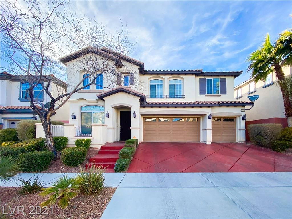 FANTASTIC HOME AT GATED ALLERTON PARK COMMUNITY IN SUMMERLIN!  THIS GORGEOUS HOME HAS 3 CAR GARAGE FLOOR PLAN 3126 SQFT 5 BEDROOMS, 3 FULL BATHROOMS WITH ONE BEDROOM DOWNSTAIRS WITH FULL BATH.  ENTRY WELCOMED WITH AN OPEN VAULTED CEILING, LIVING AND FORMAL DINING SPACE.  OPEN KITCHEN, GRANITE COUNTER TOPS, STAINLESS STEEL KITCHEN APPLIANCES, LARGE ISLAND, DOUBLE BUILT IN OVENS, SPACIOUS FAMILY ROOM WITH GAS FIREPLACE.  SEPARATE LAUNDRY ROOM DOWNSTAIRS.  HUGE UPSTAIRS LOFT IS PERFECT FOR MEDIA ROOM/ GAME ROOM/ PLAYROOM.  BEAUTIFUL PARADISE BACKYARD READY TO RELAX & HOST GATHERINGS.  ALLERTON PARK COMMUNITY INCLUDES COMMNITY POOL, SPA, PARK & PLAYGROUND.  LOCATED NEAR DOWNTOWN SUMMERLIN SHOPPING, DINING, Las Vegas BALL PARK, GOLDEN KNIGHTS PRACTICE FACILITY AND RED ROCK NATIONAL PARK. EASY ACCESS TO FREEWAY TO DOWNTOWN Las Vegas AND THE AIRPORT.****MUST SEE*****
