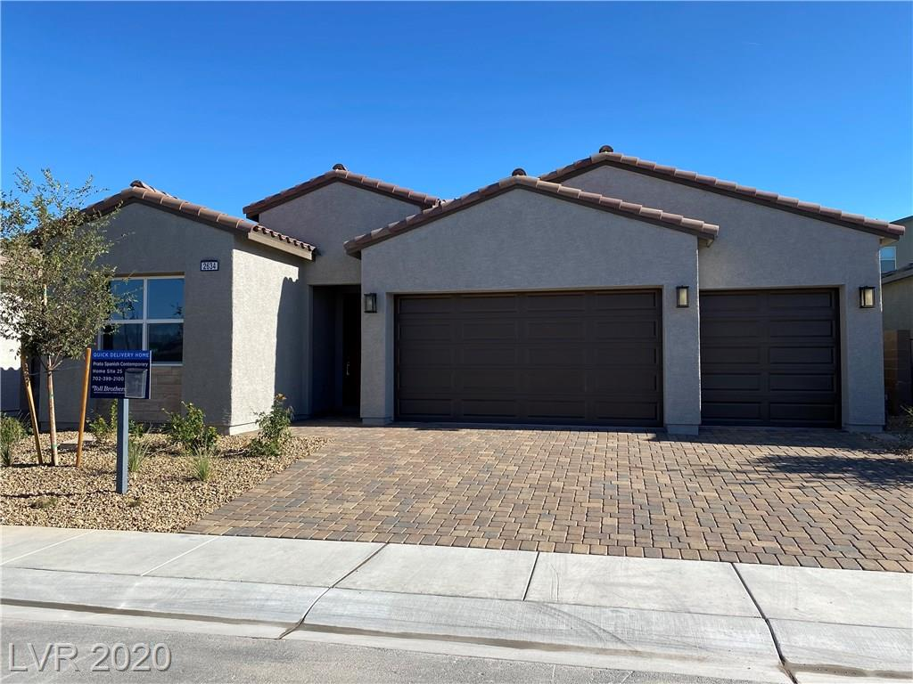 "Beautiful BRAND NEW Prato Spanish Contemporary plan in the Inspirada Master Planned community! This home features 3 bd, 3 baths + den, 3 car garage, gourmet kitchen upgraded with Kitchen Aid appliance package with 36"" cooktop, built-in oven & microwave, upgraded cabinets & flooring throughout, ultra shower at master bath, 12' stacking sliding door @ great room, walk-in pantry, covered patio!"