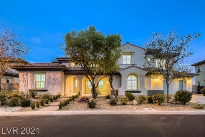 Don't miss the opportunity to own this newly renovated Gorgeous gated Summerlin TollBrothers home With 180-degree strip view of Las Vegas and mountains. 4 bedrooms, 4.5 bath, den plus casita, formal living room with fireplace, dining room with wet bar, and 2-story high vaulted ceiling family room. Brand new flooring and kitchen cabinet, quartz countertop, open kitchen and large island,  breakfast nook area in Gourmet kitchen,  Master bedroom with beautiful unobstructed view to the strip and back yard off the large balcony.  Remodeled master bath With soaking tub and oversized shower and new double vanity, two toilets.Professionally landscaped front and big  back yard, beautiful large pool and spa. Make the appointment to see today