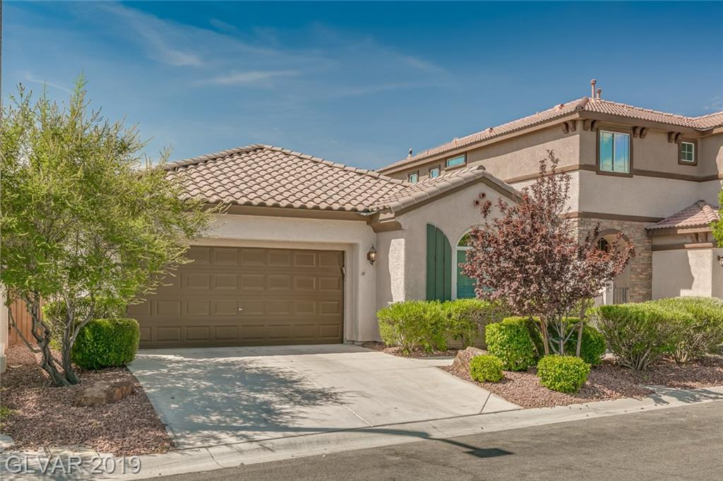 Extremely well maintained and clean single story in Talega Summerlin!! 3 bedrooms and 2 full bathrooms. Kitchen features stainless steel appliances, spacious island with granite counters, ample cabinet space with pantry. Dual vanity sinks and separate tub/shower in master bathroom. Master bedroom features very roomy walk-in closet! Ceiling fans in all the bedrooms plus living room.