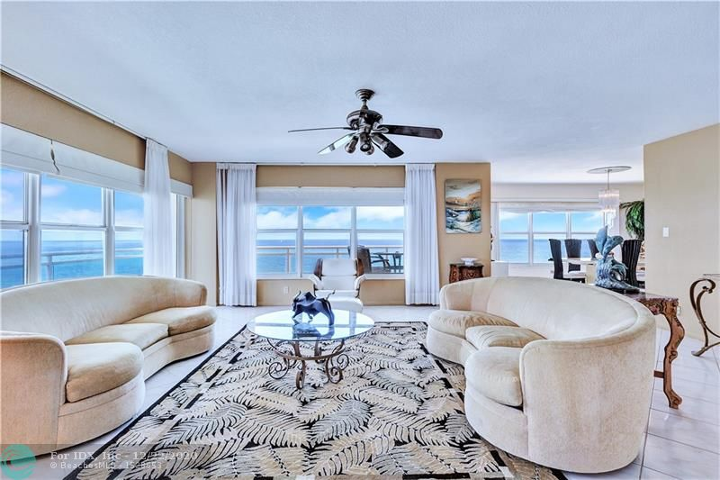 HARD TO COME BY OCEAN FRONT NE CORNER WITH WRAP AROUND GLASS BALCONY TO ENJOY THE OCEAN BREEZES. SPACIOUS FLOOR PLAN -2124 SQ. FT. APARTMENT OFFERS GOURMET KITCHEN, OPENING INTO DINING ROOM, AND IS A 3 BEDROOM-21/2 BATHS, THE 3RD BEDROOM IS A CONVERTIBLE DEN THAT EXTENDS INTO LIVING ROOMS. FROM ALL ROOMS YOU HAVE PANORAMIC VIEW FROM YOUR IMPACT WINDOWS OF THE ATLANTIC OCEAN! BUILDING OFFERS TOP SECURITY-GARAGE PARKING-STATE OF THE ART GYMS-TOTAL 3. ALSO A PET FRIENDLY BUILDING! IF YOUR LOOKING FOR GREAT VALUE AND WANT TO BE ON THE OCEAN THEN YOU SHOULD LOOK AT THIS UNIT. EASY TO SEE!!!