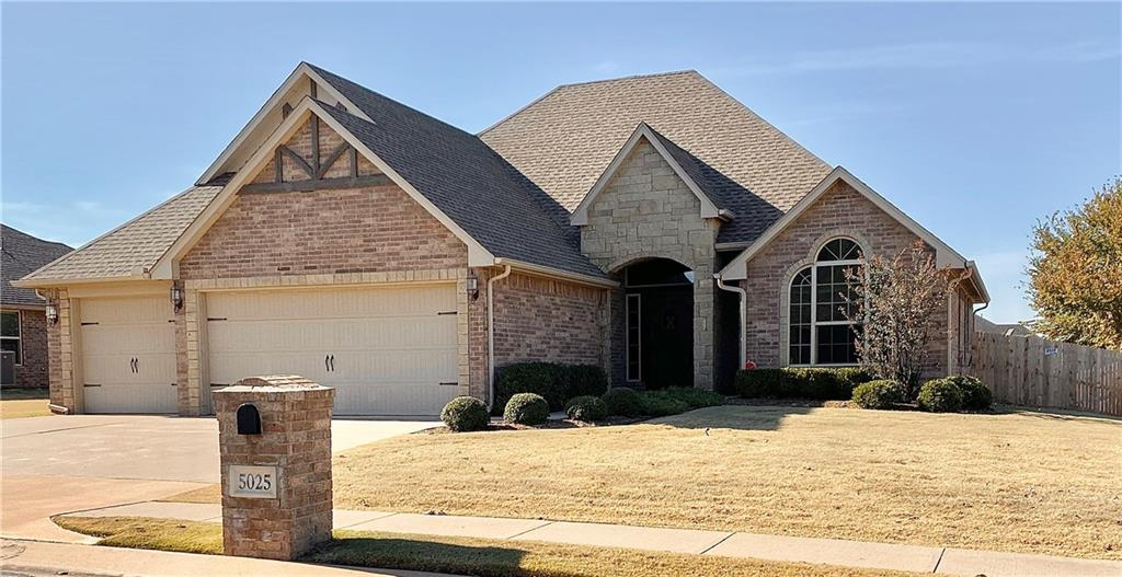 This beautiful, move-in ready, 4 bedroom, 2.5 bathroom home in sought-after Kelly Lakes offers an open-concept main living area and a large bonus room upstairs. The living room has wood floors and a fireplace. The adjacent kitchen has gas cooking, a pantry, and island bar top dining. The master suite is spacious and has a beautiful lighted tray ceiling. The ensuite bathroom has a jetted soaking tub, walk-in shower and massive closet. Upstairs is a large bonus room with a half bath and closet (could be used as a 5th bedroom). The laundry room offers storage and counter top space. You'll love the backyard with the large back patio and fireplace. Sprinkler system and storm shelter are a few more upgrades this home offers. The Kelly Lakes addition has a neighborhood pool, playground and pond, and is just down the street. The refrigerator, washer and dryer, and living room television are included, making this the perfect place to call your new home.