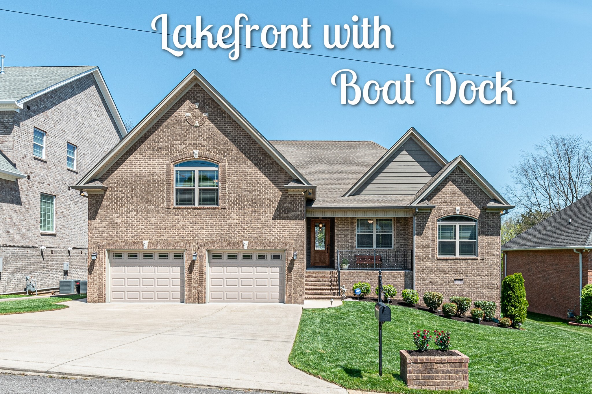 BOAT DOCK COVERED all metal 12X26 with electric, with 6,000 lb Hydro Boat lift that conveys,  Jet Ski permit/slot,  LAKE VIEW, HVAC Gas hybrid electric/heat (2 units), gas range, gas on deck for grill, Tankless gas water heater, solid hardwood floors, solid cherry cabinets,stone fireplace, Granite, Front entry large 2 car garage, bonus 3rd attached garage in the back that's heated and cooled, heated and cooled walk in basement crawl space/storage. Open House Sun. April 18th 2-6pm.
