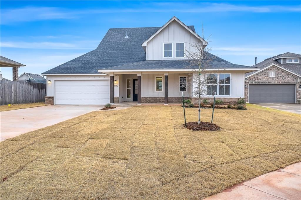 Brand new Farmhouse style home with a unique open floorplan that includes four-bedroom, two- and a half-bath, a flex area for a study or whatever you need, and a nice large open foyer to welcome your guests! The kitchen features built-in stainless steel appliances with gas cook range, microwave, granite countertops, and island/breakfast bar. You'll enjoy the warmth of the easy-start gas fireplace or the outdoor covered patio, depending on the weather! Energy-efficient HERS rating on around 60. Scheduled for completion in October 2020.