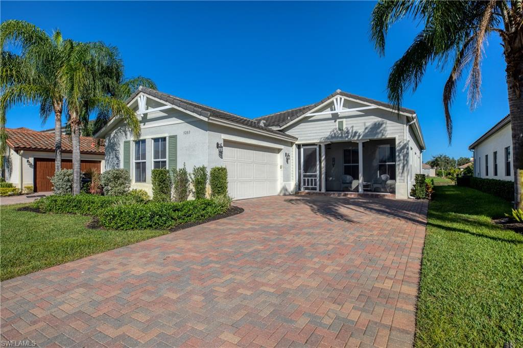 "One of the most popular floor plans, in one of the best selling communities in SWFL! This, ""Bristol"" is ready for its new owner! This home is located on one of the nicest streets in Ave Maria overlooking a lake, with close proximity to downtown Ave Maria and the brand new Maple Ridge Clubhouse. High end finishes abound and include tile in all living areas, oversized lanai, crown and base molding, stainless steel appliances and granite counter tops. The backyard has plenty of room for a pool. The Club offers 10,000sf of recreation space and has a state of the art fitness center, pickle ball, resort pool, fitness trail, outdoor park, billiards and exhibition kitchen. MAKE SURE YOU VIEW THE VIRTUAL TOUR!"