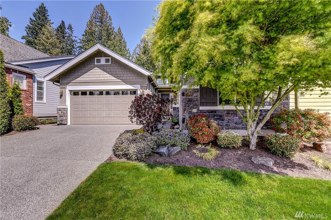Enter through the inviting courtyard into this warm home with rich hardwoods and stellar floor plan. The desirable Hemlock is a favorite for many reasons; lofty ceilings, flexible floor plan, right sized rooms and loads of windows. Master w/5 piece bath & 2 walk-in closets, second guest en-suite w/a private TV room and an office with French doors. Easy care, backyard oasis awaits w/a covered grilling area, deck & hot tub. Air con~hanging garage storage~new interior paint. Trilogy ages 53+