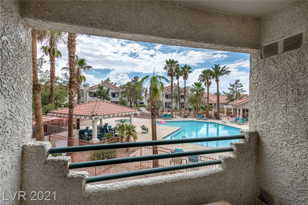 Beautiful two bedroom/one den condo in the sought after community of Elan with amazing pool views!**Elan is in close proximity of Boca Park, Peccole Ranch & Summerlin & has amazing amenities**The community of Elan has 3 pools, a newly updated fitness center & clubhouse**This 2nd level unit with vaulted ceilings comes with all appliances and is just waiting for you!!**Come check out this home today!