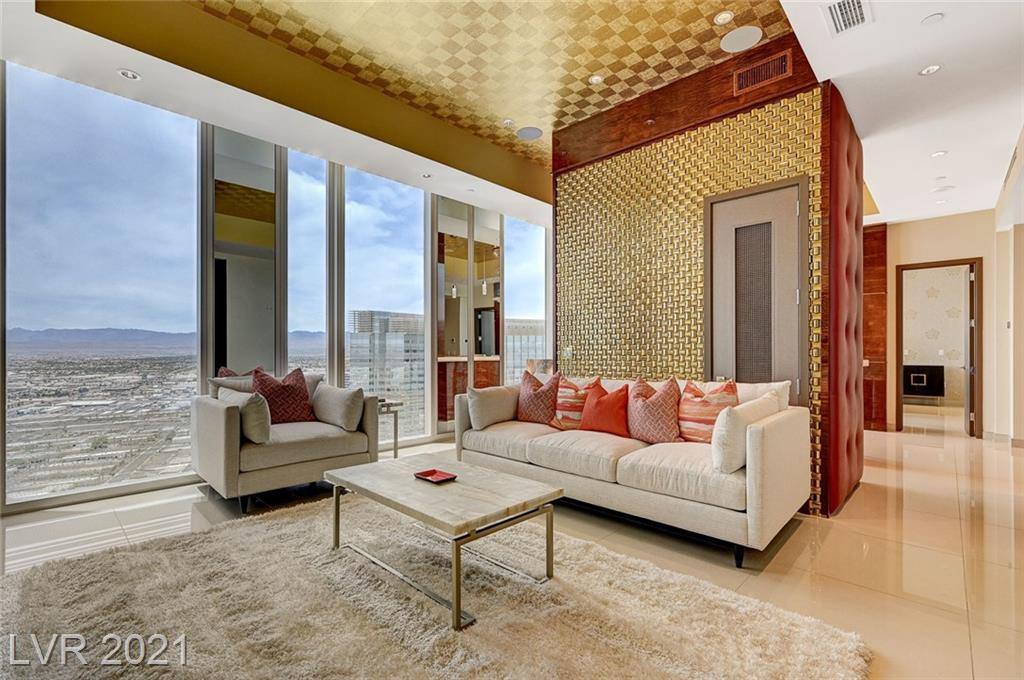 Strip/City/Mtn views from this stunning 2Bd/2.5ba residence. Waldorf Astoria Las Vegas condos combine the prestige of an internationally-renowned brand, unparalleled amenities, spectacular Strip views, & dramatic design with Waldorf Astoria's celebrated world-class, five-star hotel service.